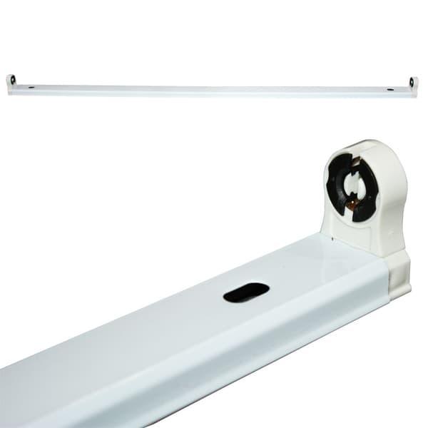 Φωτιστικό οροφής σκαφάκι diolamp για λάμπες LED T8 Φθορίου μονό λευκό super slim (χωρίς λαμπτήρα) 1Χ60cm ΚΩΔ : DELED60
