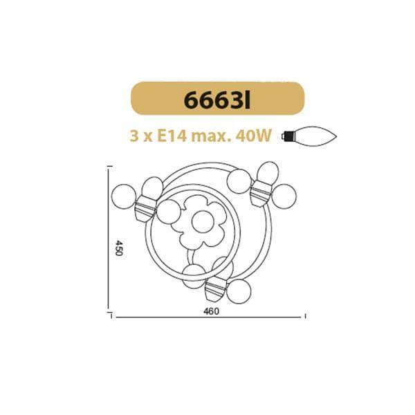 Παιδικό φωτιστικό οροφής τρίφωτη ροζέτα μέλισσες με δυνατότητα περιστροφής της κεφαλής με ντουί Ε14   Κωδικός : 6663I
