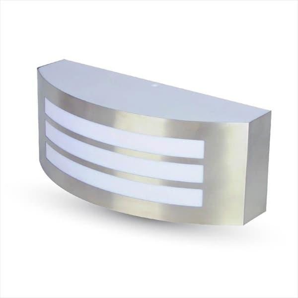 Φωτιστικό απλίκα με γρίλιες v-tac αλουμινίου στεγανό ip44  σατινέ επίτοιχο με ντουί Ε27 sku: 7514