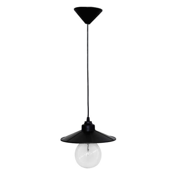 Φωτιστικό οροφής πλαστικό Heronia Lighting μονόφωτη καμπάνα μαύρη Ø 180mm (ντουί ε27) sku : 11-0092