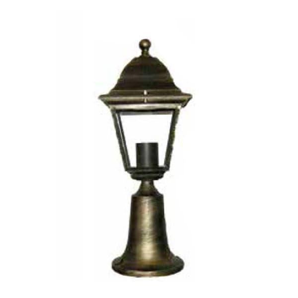 Φωτιστικό κολωνάκι Heronia Lighting μονόφωτο 31cm μπρονζέ πλαστικό στεγανό ip23 με ντουί Ε27 sku: 10-0093