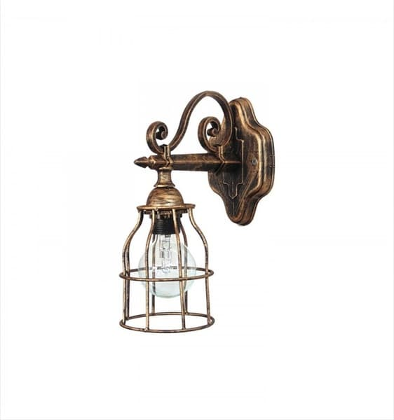 Φωτιστικό απλίκα Heronia Lighting μονόφωτη χαλκός (ντουί Ε27) σειρά vintage net Κωδικός : 31-0788