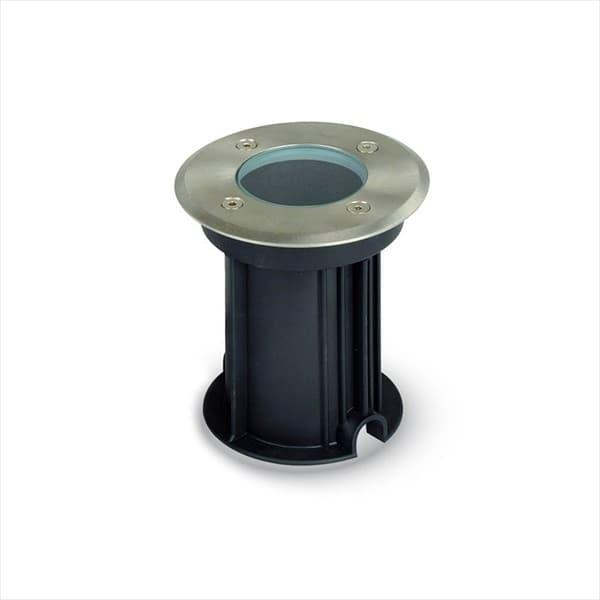 Φωτιστικό δαπέδου χωνευτό v-tac ανοξείδωτο ατσάλι στεγανό ip65 στρογγυλό σατινέ με ντουί gu10 sku: 7515