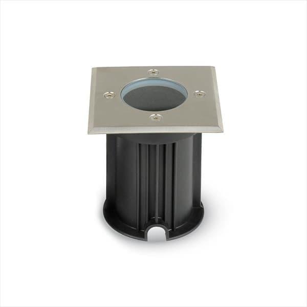 Φωτιστικό δαπέδου χωνευτό v-tac ανοξείδωτο ατσάλι στεγανό ip65 τετράγωνο σατινέ με ντουί gu10 sku: 7516