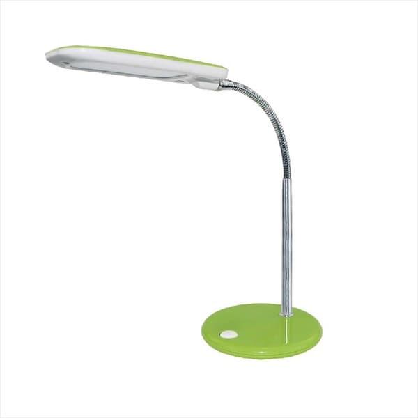 Επιτραπέζιο led 5w 4000k φωτιστικό πορτατίφ πράσινο-λευκό αλουμίνιο-πλαστικό με σπιράλ βραχίονα Κωδικός : 15205LEDGN