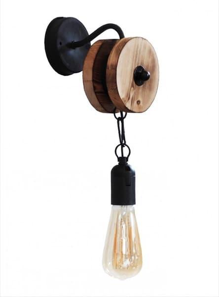 Φωτιστικό Heronia Lighting απλίκα μονόφωτη Με Τροχαλία R-300AP Κωδικός : 30-0029