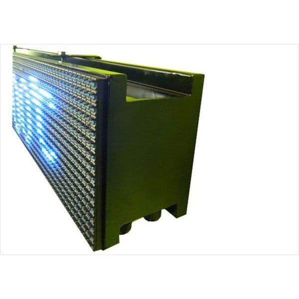 Ηλεκτρονική επιγραφή LED διπλής όψης 64 x 16 cm αδιάβροχη Ελληνικής κατασκεύης λευκό χρώμα Κωδικος : 064016DU-white