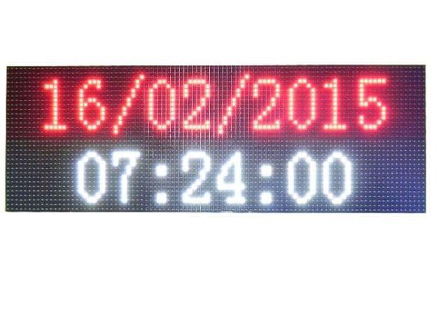Ηλεκτρονική επιγραφή LED διπλής όψης 64 x 16 cm αδιάβροχη Ελληνικής κατασκεύης κόκκινο χρώμα Κωδικος : 064016DU-red