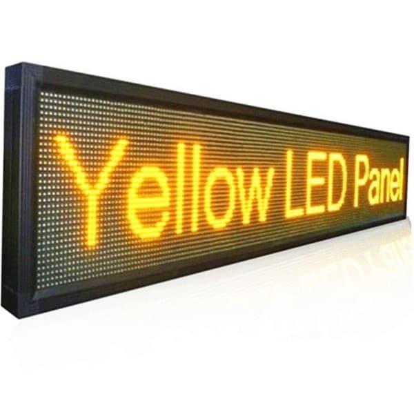 Ηλεκτρονική επιγραφή LED διπλής όψης 64 x 16 cm αδιάβροχη Ελληνικής κατασκεύης πορτοκαλί χρώμα Κωδικος : 064016DU-orange