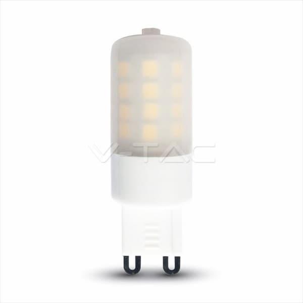 Λάμπα led v-tac g9 πλαστική 3watt ντιμαριζόμενη 230v ψυχρό λευκό 6400Κ 225lumen δέσμης 360° ΚΩΔ: 7255