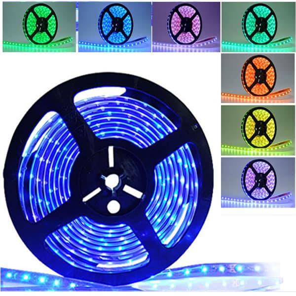Led ταινία αυτοκόλλητη 14.4w/m 12vdc 60led5050/m μη στεγανή ip20 πολύχρωμη rgb Κωδικός : LS20-00136
