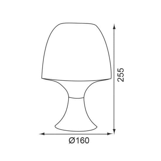 Επιτραπέζιο φωτιστικό μονόφωτο πορτατίφ Taupe πλαστικό με ντουί Ε14 Κωδικός : 1024STE