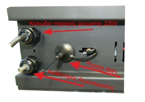 Ηλεκτρονική επιγραφή LED διπλής όψης 224 x 48 cm αδιάβροχη Ελληνικής κατασκεύης λευκό χρώμα Κωδικος : 224048DU-white