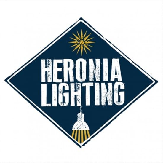 Φωτιστικό κρεμαστό Heronia Lighting τετράφωτο μπρονζέ με ξυλινο πλαίσιο & ντουί Ε27 R-320 Κωδικός : 30-0034