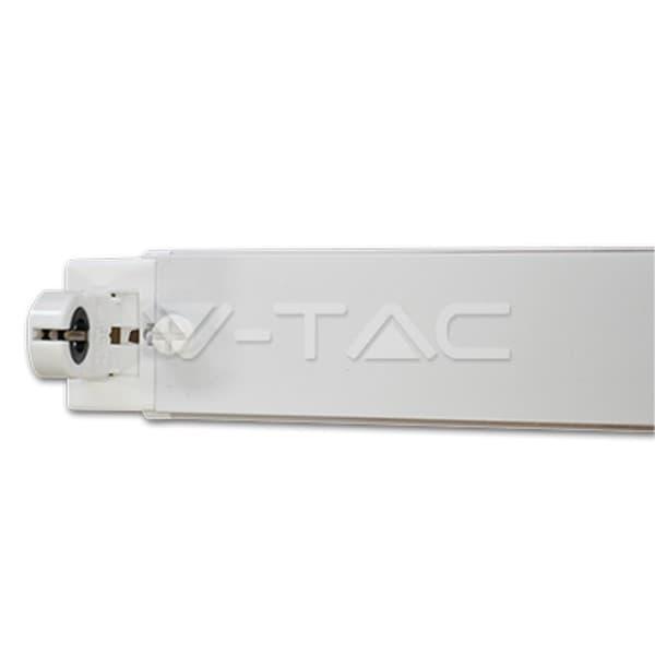 Φωτιστικό οροφής σκαφάκι v-tac για λάμπες LED T8 Tube & Φθορίου μονό λευκό (χωρίς λαμπτήρα) 60cm