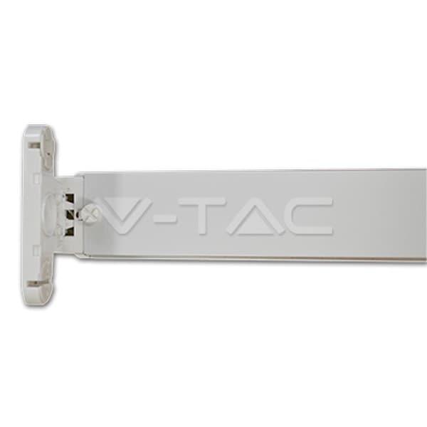 Φωτιστικό οροφής σκαφάκι v-tac για λάμπες LED T8 Φθορίου διπλό λευκό (χωρίς λαμπτήρα) 2Χ60cm