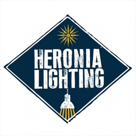 Φωτιστικό Heronia Lighting Kρεμαστό Μπρονζέ τρίφωτο R-150RAGA 3L chain Κωδικός : 30-0038