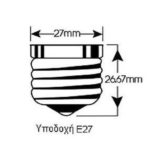 Αδιάβροχο καλώδιο γιρλάντας E27 15m με ντουί Ε27 Kωδικός: 3673