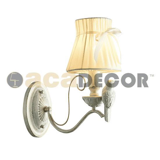 Φωτιστικό τοίχου απλίκα μονόφωτη λευκό-χρυσό aca-decor 2018 290mm με ντουί ε14 Κωδικός : EG166081WW