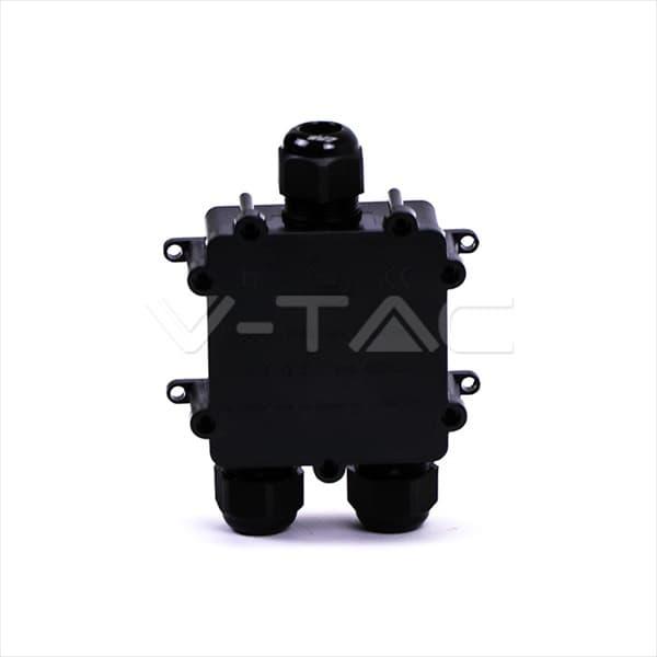 Αδιάβροχο κουτί προβολέων μονό σε διπλό Μαύρο σώμα IP68 Κωδικός: 5980