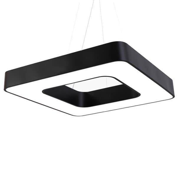 MrLed Led κρεμαστό φωτιστικό τετράγωνο atman Leggenda padova μαύρο σώμα 48w  230v nw 4000k 4150lm Κωδικός  59cb2345ea6