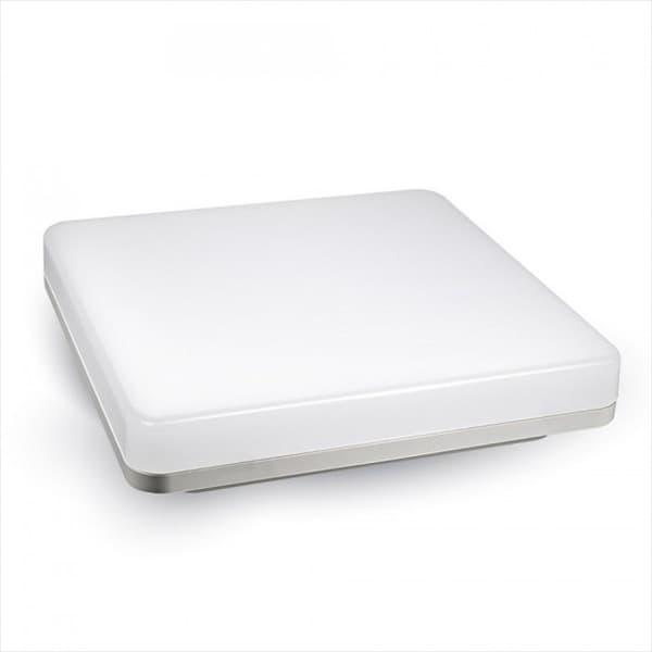 LED Φωτιστικό οροφής/πλαφονιέρα 15W/230v τετράγωνο 3000K θερμό λευκό 1250lm με λευκό σώμα IP 44 Κωδικός: 1390