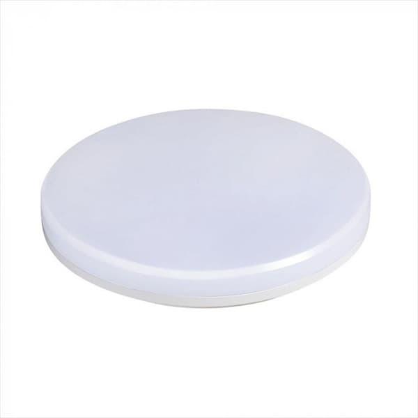 LED Φωτιστικό οροφής/πλαφονιέρα 15W/230v στρογγυλό 6400K ψυχρό λευκό 1250lm με λευκό σώμα IP 44 Κωδικός: 1389