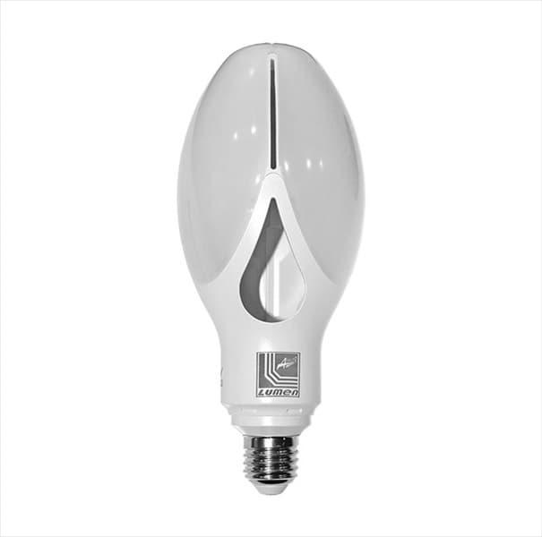 Λάμπα Led Μεγάλης Ισχύος Ε27 40W 230V Τύπου Μανόλια 360° φυσικό Φως 4000k 4350 Lumen IP-20 Κωδικός: 13-275401