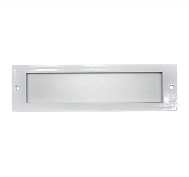 Πλαίσιο αλουμινίου λευκό ορθογώνιο με γυαλί Για Φωτιστικό Διαδρόμου (Νο 3-5039) Κωδικός: 3-50391