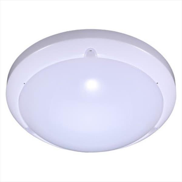 LED φωτιστικό εξωτερικού χώρου στρογγυλό 16W με αισθητήρα κίνησης 6000K ψυχρό λευκό φως & λευκό σώμα IP54 Κωδικός: 1282