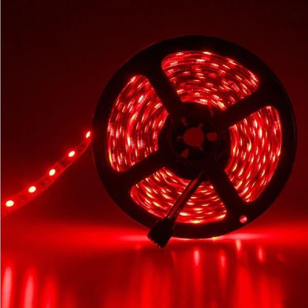 Led ταινία adeleq 12V SMD 5050 7.2W/m κόκκινη IP54 στεγανή Kωδικός: 30-4412212