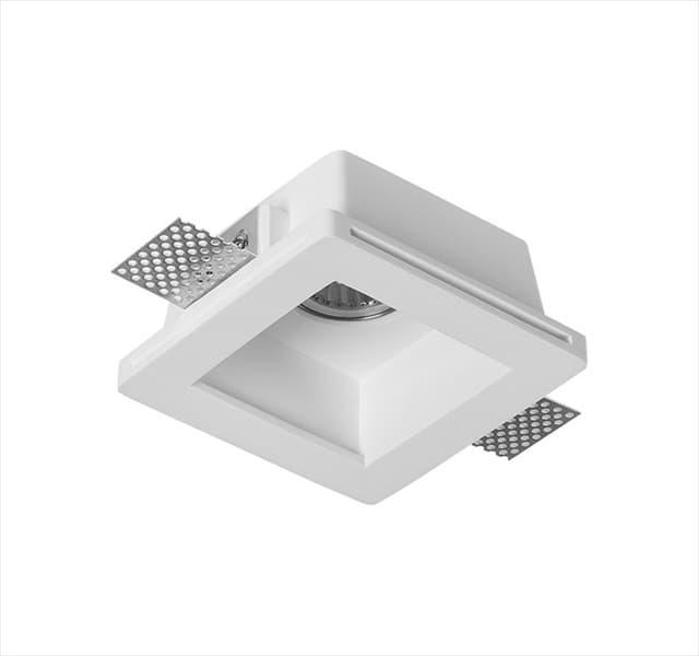 Χωνευτό φωτιστικό adeleq Spot γύψινο για GU10 τετράγωνο σε χρώμα λευκό 60mm Κωδικός: 21-11009