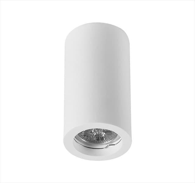Φωτιστικό οροφής adeleq Spot γύψινο για GU10 κύλινδρος σε χρώμα λευκό Η130mm Κωδικός: 21-11014