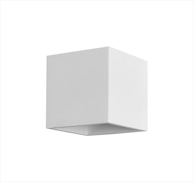 Φωτιστικό απλίκα adeleq Spot γύψινο για GU10 κύβος σε χρώμα λευκό Η115mm Κωδικός: 21-11016