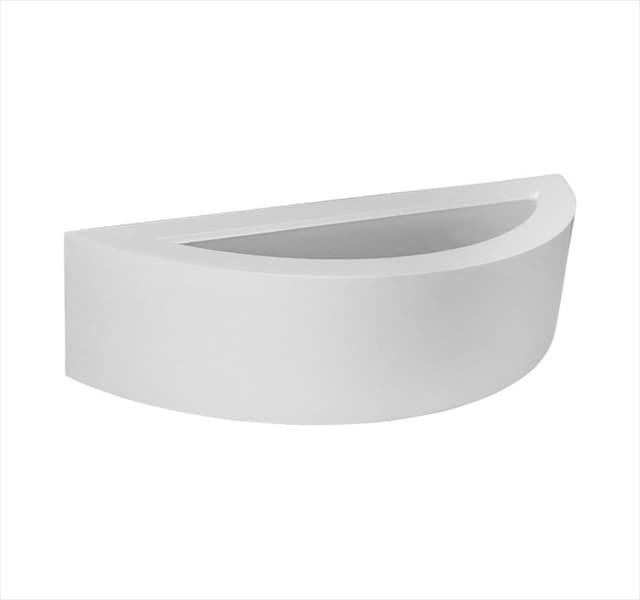 Φωτιστικό απλίκα up-down adeleq γύψινη για Ε14 σε χρώμα λευκό Η75mm Κωδικός: 21-11017