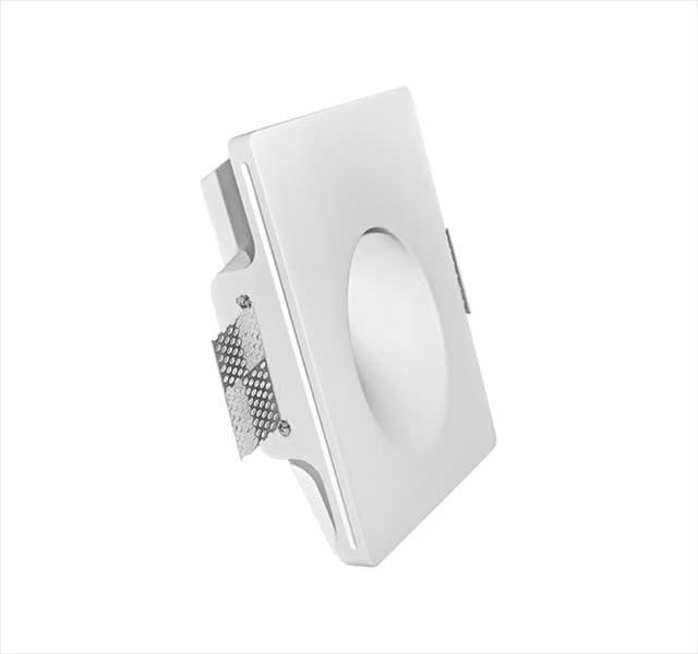 Χωνευτό φωτιστικό adeleq Spot γύψινο για GU10 Ορθογώνιο σε χρώμα λευκό Υ55mm Κωδικός: 21-11021