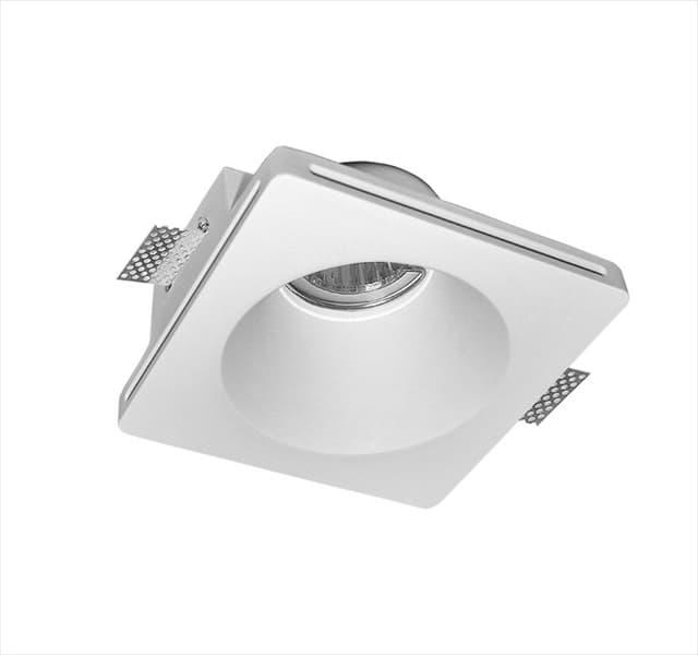 Χωνευτό φωτιστικό adeleq Spot γύψινο για GU10 τετράγωνο σε χρώμα λευκό 60mm Κωδικός: 21-11006