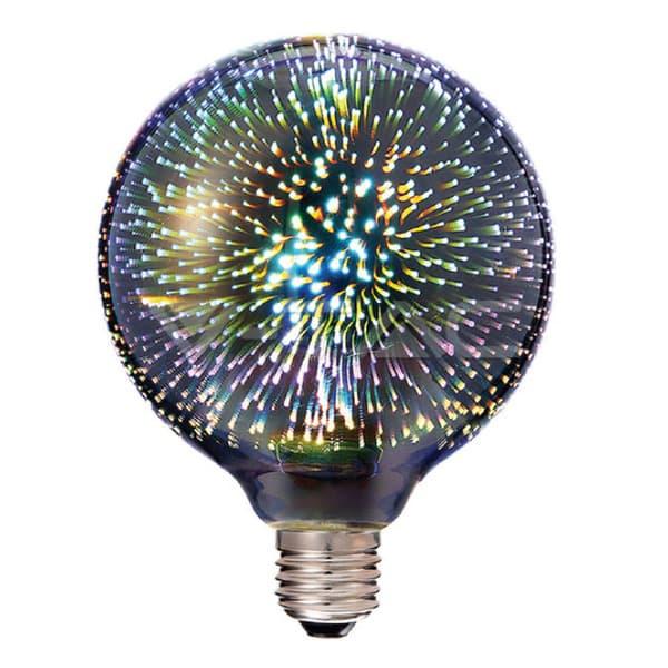 Λάμπα LED E27 Special Art Filament G125 3W 3D Θερμό λευκό 3000K Κωδικός: 2706