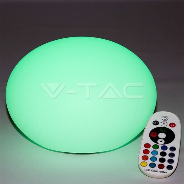 Εξωτερικό φωτιστικό LED μπαταρίας 1W RGB οβάλ επαναφορτιζόμενο Κωδικός: 40141