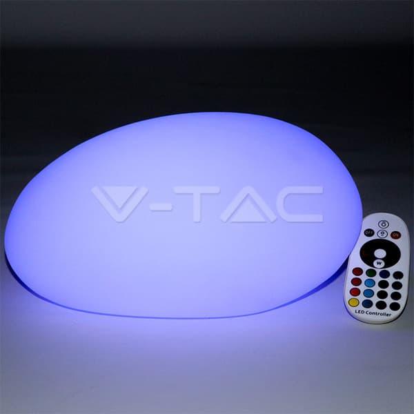 Εξωτερικό φωτιστικό LED μπαταρίας 1W RGB πέτρα επαναφορτιζόμενο Κωδικός: 40151
