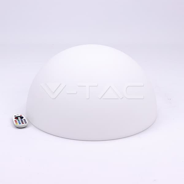Εξωτερικό φωτιστικό LED μπαταρίας 6W RGB μισή μπάλα επαναφορτιζόμενο Κωδικός: 40221