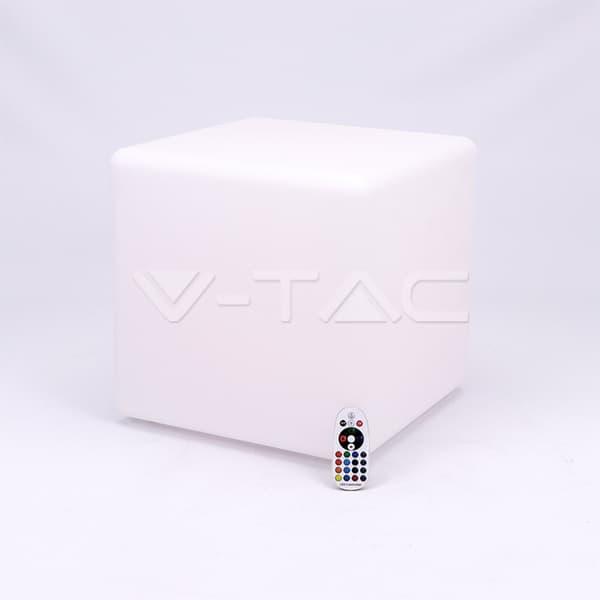 Εξωτερικό φωτιστικό LED μπαταρίας 3W RGB κύβος επαναφορτιζόμενο Κωδικός: 40241