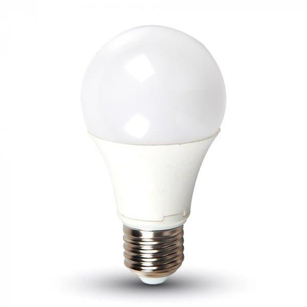 Λάμπα LED v-tav E27 A60 SMD 9W θερμό λευκό φως 2700k 806lm Κωδικός: 7260     LED λάμπα A60