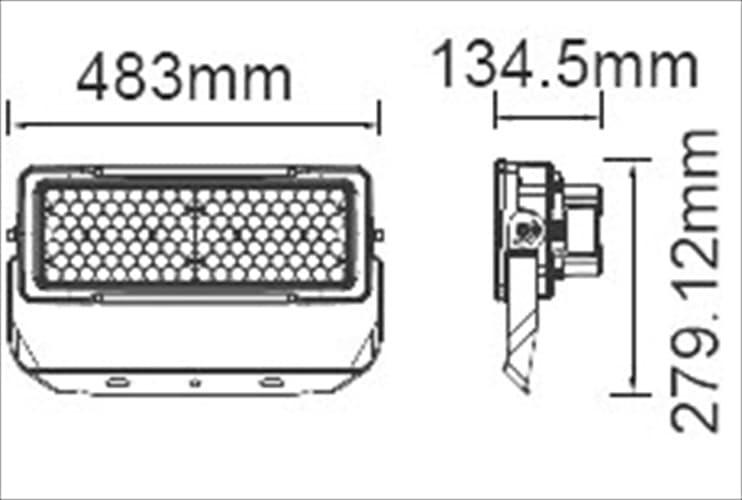 Προβολέας LED Samsung chip & Meanwell driver 250W Φυσικό λευκό 4000K Μαύρο σώμα Dimmable 60° Κωδ: 495