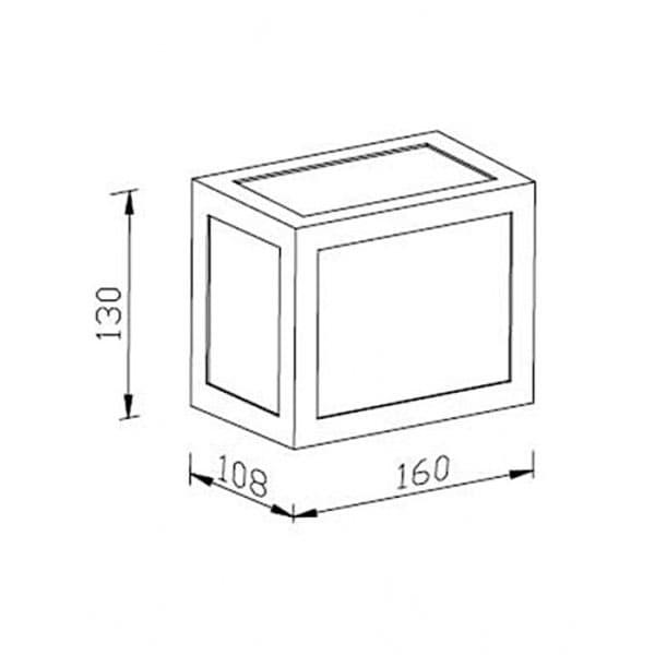 LED αδιάβροχο φωτιστικό 12W IP65 4000K Φυσικό λευκό με λευκό σώμα Κωδικός: 8335