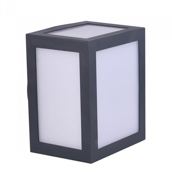LED αδιάβροχο φωτιστικό 12W IP65 3000K Θερμό λευκό με μαύρο σώμα Κωδικός: 8340