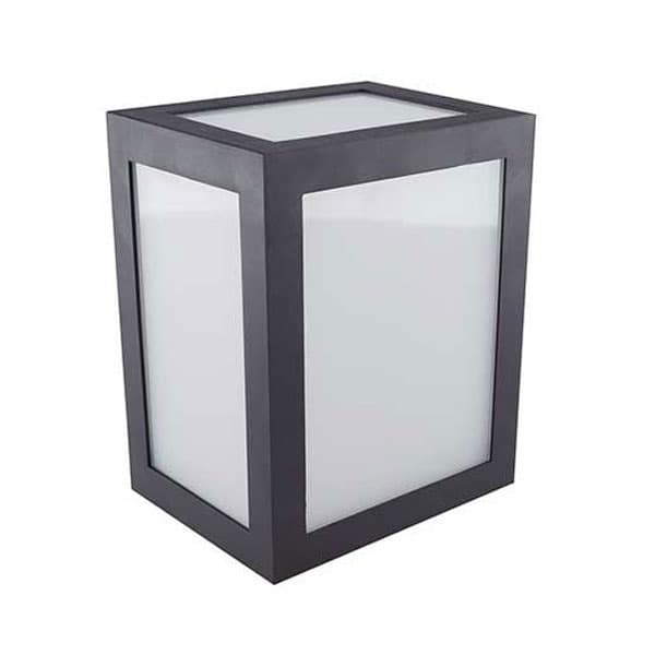 LED αδιάβροχο φωτιστικό 12W IP65 4000K Φυσικό λευκό με γκρι σώμα Κωδικός: 8338