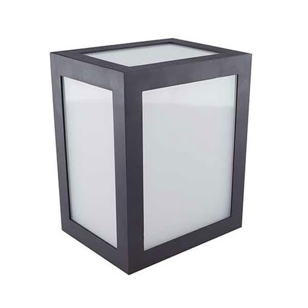 LED αδιάβροχο φωτιστικό 12W IP65 6400K Λευκό με μαύρο σώμα Κωδικός: 8342