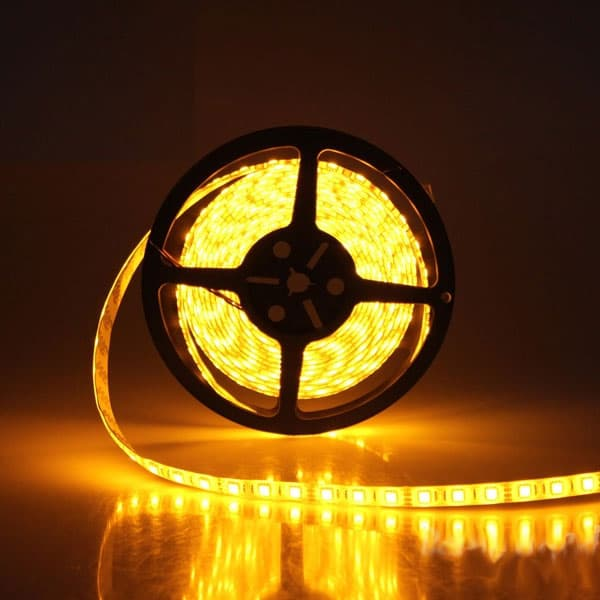 Led ταινία adeleq 24vdc SMD 5050 14.4W/m κίτρινη-πορτοκαλί IP20 μή στεγανή Kωδικός: 30-4424903