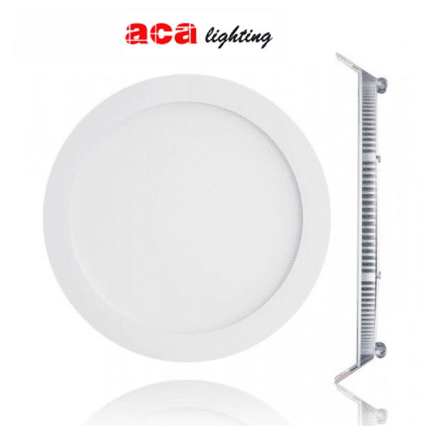 Led panel slim φωτιστικό χωνευτό στρογγυλό λευκό 18watt 230v ψυχρό λευκό φώς 6500Κ 1510lumen ΚΩΔ: PLATO1865RW